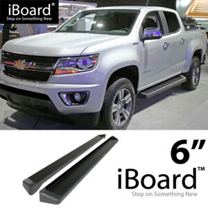 Iboard Black Running Boards Style Fit 15 20 Chevy Colorado Gmc Canyon Crew Cab