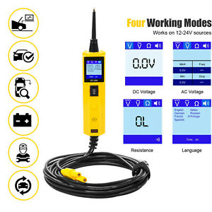 Car Circuit Tester Power Probe 12v 24v Automotive Electrical System Diagnostic