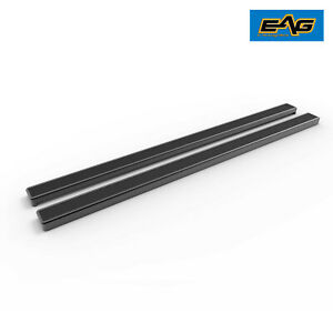Eag 80 Running Board Nerf Bar Bracket Black For 07 18 Toyota Tundra Double Cab