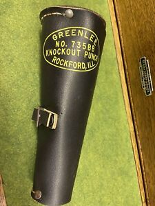 Greenlee No 735bb Knockout Punch Set Kit Leather Roll