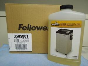 Box Of 4 Fellowes High Security Oil Crc35058 For The Worlds Toughest Shredders