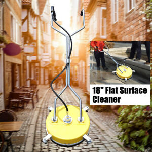 18 4000psi Concrete Or Flat Surface Cleaner For Pressure Washer Cold hot Water