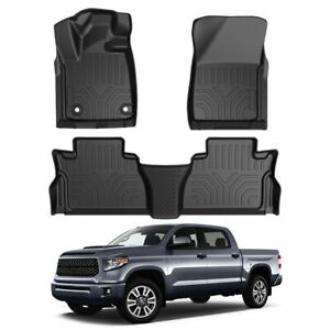 For 2014 2020 Toyota Tundra Trd Pro All Weather Floor Liners Tpe Floor Mats