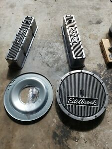 Edelbrock Elite Small Block Chevy Air Cleaner And Tall Valve Covers