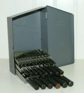 H Huot Drill Index Metal Box 1 13 By 0 5mm With 25 Drill Bits C l Hs Usa