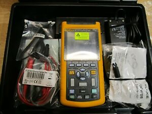 Fluke 123 Industrial Scope Meter Full Custom Case Kit Brand New