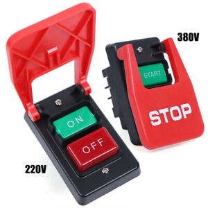 Industrial Machine On off Start stop Push Button Momentary Switch Red Green Usa