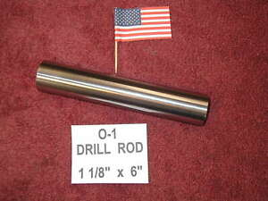 1 1 8 X 6 Drill Rod 0 1 Tool Steel Precision Ground 1 125 Machinist