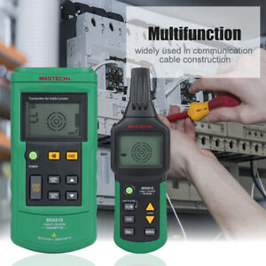 Ms6818 12v 400v Wire Tracker Cable Metal Pipe Flashlight Detector Tester 125khz
