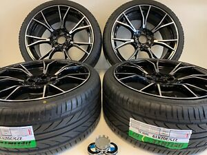 19 Inch Wheels Rims And Tires Fit Bmw M5 F90 Style M6 B7 5x1120 6 Machined Black