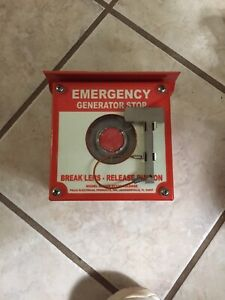 Pilla Electrical St120sn3sl Emergency Generator Stop No Contact Included