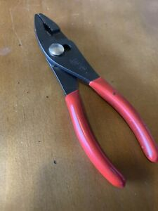 Snap On Tools Adjustable Slip Joint Pliers 6 5 Long 46cp Red Handles
