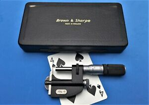 Brown Sharpe Classic 0 1 Interchangeable Multi Anvil Micrometer english Made