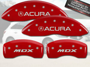 2007 2013 Acura Mdx Front Rear Red Mgp Brake Disc Caliper Covers 4pc Set