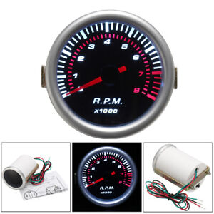 2 52mm Universal Car Digital Led Tachometer Tacho Tester Gauge Meter Rpm Usa