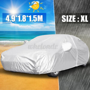 Full Car Cover Protector For Car Indoor Outdoor Dust Uv Ray Rain Snow Waterproof Fits 1968 Mustang