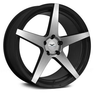 Fathom Stern Wheels 22x9 25 5x120 65 74 1 Black Rims Set Of 4