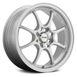 Konig Helium Wheels 15x6 5 40 4x100 73 1 Silver Rims Set Of 4
