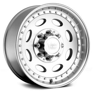 Vision 81a Heavy Hauler Wheels 19 5x7 5 0 8x165 1 Machined Rims Set Of 4