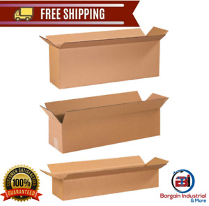 Long Cardboard Corrugated Box Shipping Storage Organizer Transport Carton 25 pcs