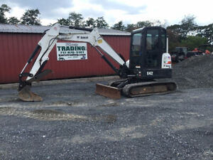 2014 Bobcat E42 Hydraulic Mini Excavator W Cab Thumb One Owner Only 1000hrs