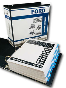 Ford Tractor 6600 6700 7600 7700 Service Manual Repair Shop Technical Book