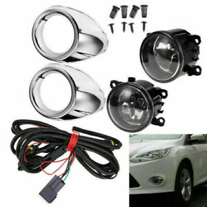 Pairs Of H11 Fog Light Bumper Driving Lamps For Ford Focus S Se Sel 2012 2014
