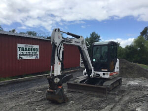 2008 Bobcat 335g Hydraulic Mini Excavator W Cab Thumb Super Clean 2400hrs