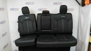 16 Ford F150 Platinum Crew Cab Oem Rear Heated Seat Assembly Black Leather