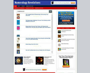 Numerology Blog Affiliate Websitestore New Domain Fully Stocked