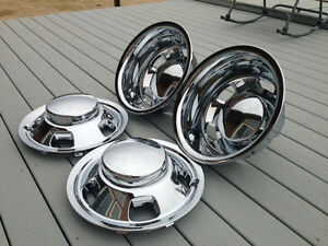 03 18 Dodge Ram 3500 17 Dually Chrome Wheel Simulators Dual Skins Liners Covers