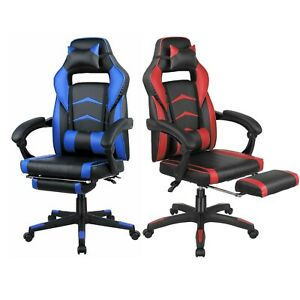 Office Chair High Back Computer Racing Gaming Chair Ergonomic Chair Red blue New
