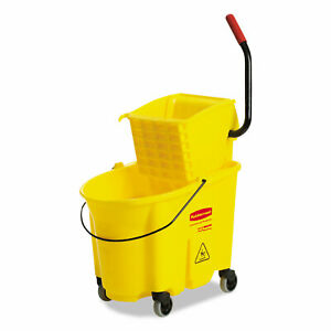 Rubbermaid Commercial Prod Mopping Bucket And Wringer Combo Pack Yellow