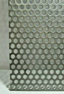 3 8 Hole 16 Gauge 304 Stainless Steel Perforated Sheet 4 3 4 X 15