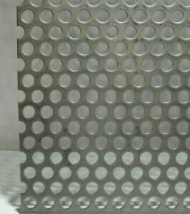 3 8 Hole 16 Gauge 304 Stainless Steel Perforated Sheet 8 X 24