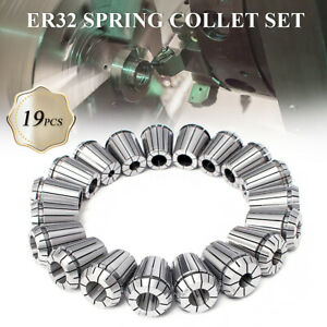 19pcs Er32 Precision Spring Collet Set For Cnc Milling Lathe Tool Workholding
