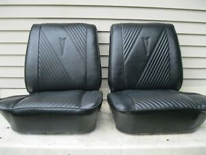 1965 1964 Pontiac Gto Bucket Seats Black With Tracks Lemans Gto Tempest