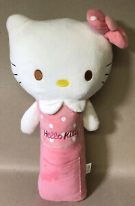 Hello Kitty Car Seat Belt Cover 19 Plush Pillow Euc