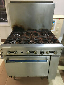 6 Burner Gas Range Heavy Duty 36 Commercial Restaurant Stove Gas Oven