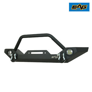 Eag Led Front Bumper With Abs Light Frames Fit For 87 06 Jeep Wrangler Yj tj