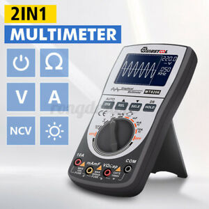 Upgraded Mustool Mt8206 Lcd Digital Storage Oscilloscope Multimeter Tester Ac dc