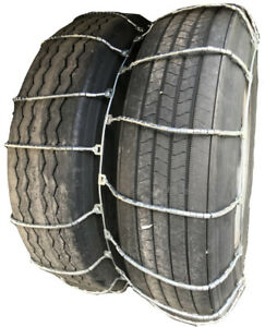 Snow Chains 4315 10r 22 5 10 22 5 Dual Cable Tire Chains With Cam