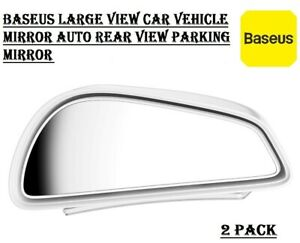 2 X Reversing Blind Spot Mirror Wide Angle Rear View Car Side Mirror Adjustable