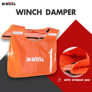 X Bull Winch Damper Cable Cushion Recovery Line Safety Blanket Pocket Off Road