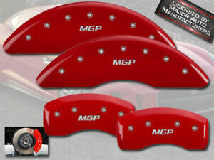 2016 2019 Jaguar Xj L Portfolio Front Rear Red Mgp Brake Disc Caliper Covers
