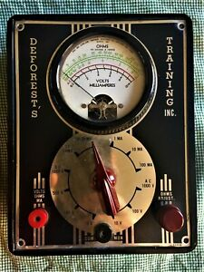 Vintage Deforest s Training Inc Milliamperes Test Meter Simpson Ohm Steampunk