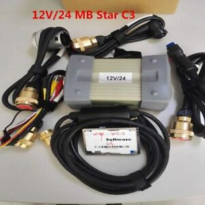 12v 24v Mb Star C3 Mercedes benz Diagnostic Tool With Hdd2 Full Set With 5 Cable