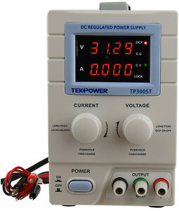 Used Tekpower Tp3005t Digital Variable Dc Power Supply 30 Volts 5 Amps With Lock