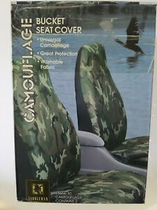 Saddleman Front Bucket Seat Covers Poly Fabric Green Camouflage 28666 30 Unused