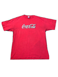 Vintage Coca Cola T Shirt Men Large Red